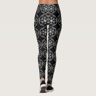 Leggings Seed of Life in White