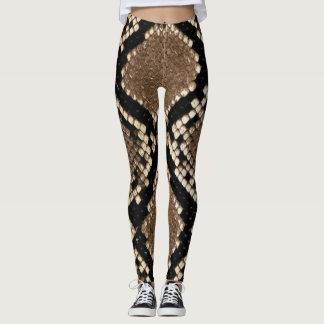 Leggings-Snake Skin texture Leggings