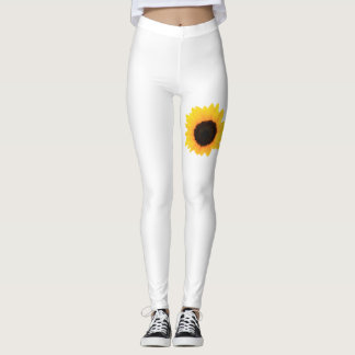 Leggings - Sunflower Single Bloom