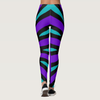 Leggings with a giant mandala. Striped rear.