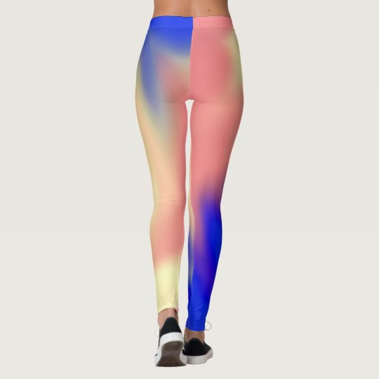 Leggings with Abstract Colourful Flow Design