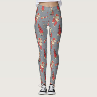 Leggings with Chinese Girls Vintage Illustrations
