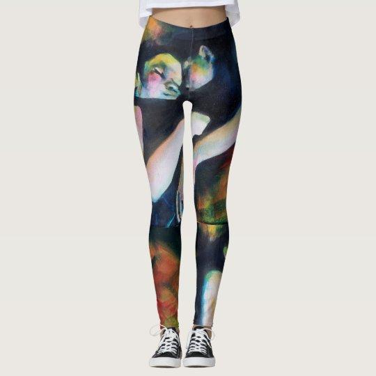 Leggings with painting sleep