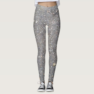 Leggings with pebbles floor design