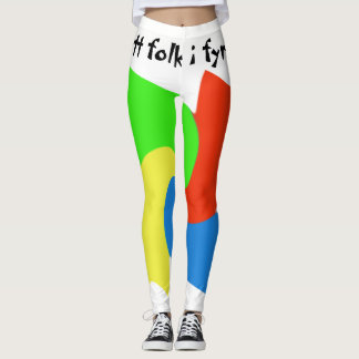 Leggings with samisk design and text