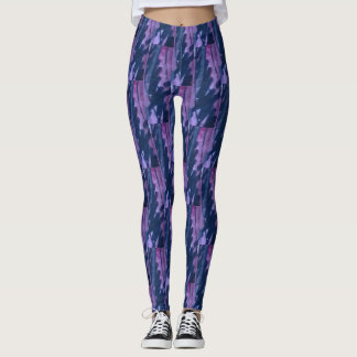 Leggings with slate gray plum, lavender