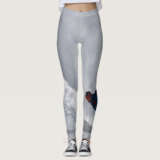 Leggings with snowboarder Gray