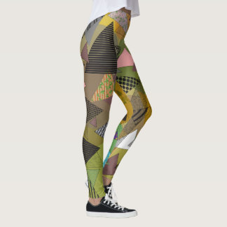 "Leggings with ""Triangles Foliage"" design"
