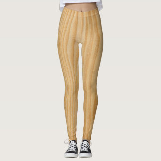 Leggings-wood texture leggings