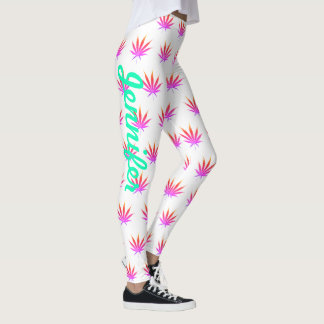 Leggings YOUR NAME Rainbow Pot Exercise Pants