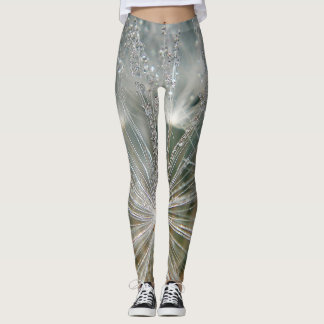 Leggins dandelion with waterdrops leggings