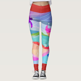 leggins ocean floor leggings