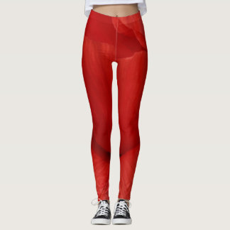 Leggins red poppy leggings