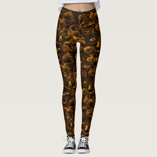 Leggins with brownish colouring golden curls leggings