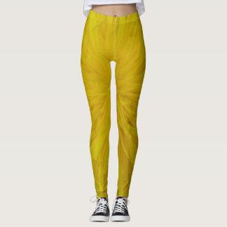 Leggins yellow dandelion pattern leggings
