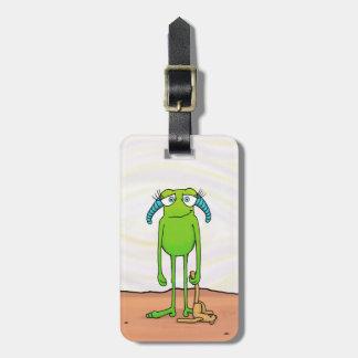 Leggs the Alien, luggage tag