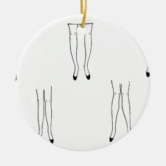 Leggy Lady Ceramic Ornament