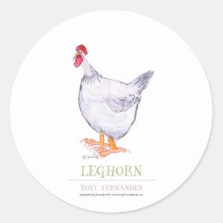 LEGHORN HEN, tony fernandes Round Sticker