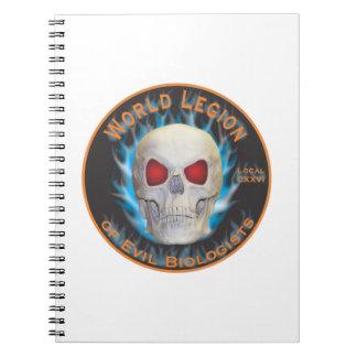 Legion of Evil Biologists Spiral Notebook