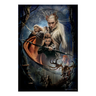 LEGOLAS GREENLEAF™, TAURIEL™, and Thranduil Poster