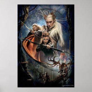 LEGOLAS GREENLEAF™, TAURIEL™, and Thranduil Poster