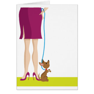 Legs and Dog Card