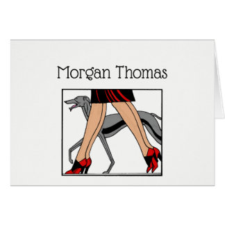 Legs Art Deco Women Greyhound Whippet Dog R Card