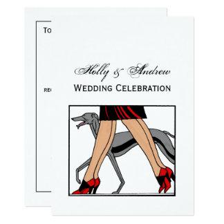 Legs Art Deco Women Greyhound Whippet Dog R Card