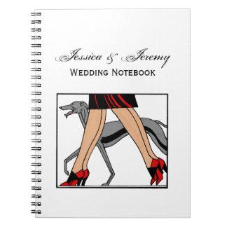 Legs Art Deco Women Greyhound Whippet Dog R Notebook