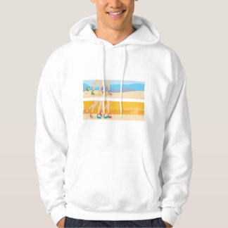 Legs At The Beach Mens Hoodie