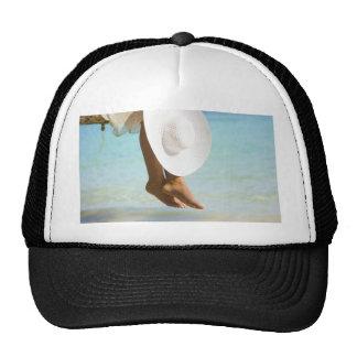 Legs on the beach trucker hats