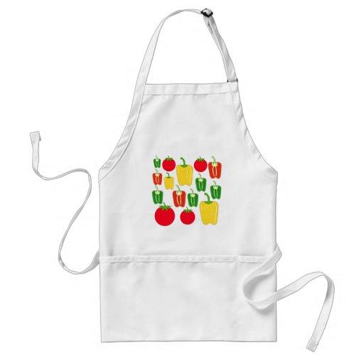 Légumes colorés tablier