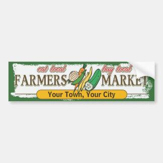 Légumes faits sur commande du marché d'agriculteur autocollant de voiture