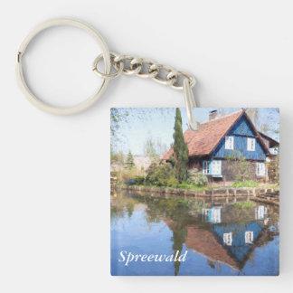 Lehde canal in Spreewald Single-Sided Square Acrylic Keychain