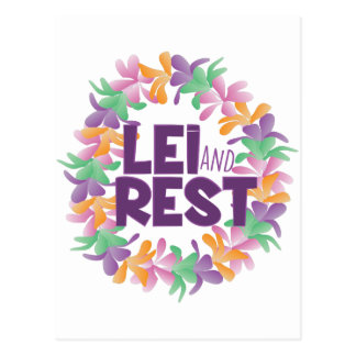 Lei And Rest Postcard