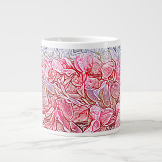 lei sketch pink flowers abstract neat background extra large mugs