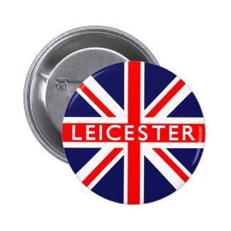 Leicester : British Flag 2 Inch Round Button