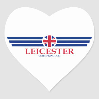 Leicester Heart Sticker