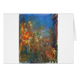 Leicester Square at Night by Claude Monet Card