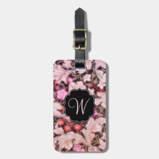 Leicester Vintage Floral with Monogram Luggage Tag