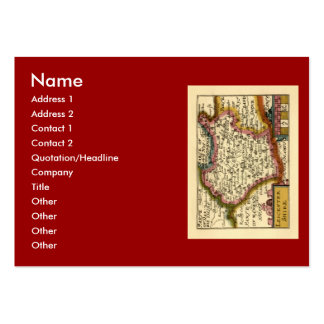 Leicestershire County Map, England Pack Of Chubby Business Cards