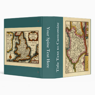 Leicestershire County Map, England Vinyl Binder
