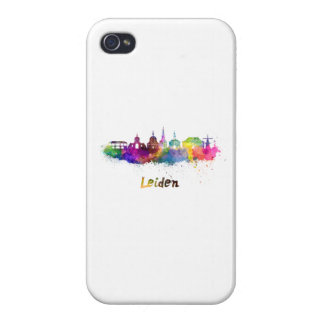 Leiden skyline in watercolor iPhone 4 cases