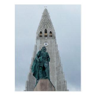 Leif Erikson Statue, Iceland Postcard