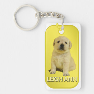 Leigh Ann Dog Tag Keychain
