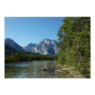Leigh Lake at Grand Teton National Park Poster