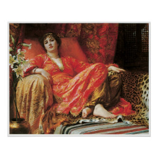 Leila, 1892 Sir Frank Dicksee Poster