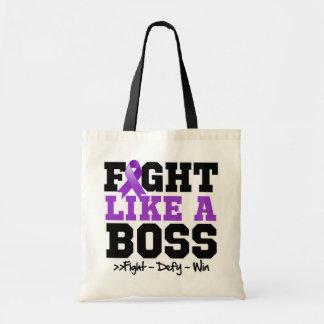 Leiomyosarcoma Fight Like a Boss Budget Tote Bag