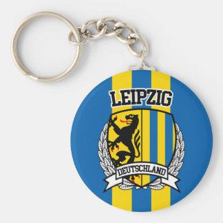 Leipzig Basic Round Button Keychain