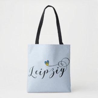 Leipzig Heart Grocery Bag, Germany Tote Bag
